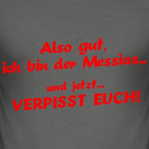 Messias T-Shirts - Männer Slim Fit T-Shirt