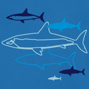 six sharks T-Shirts - Men's V-Neck T-Shirt
