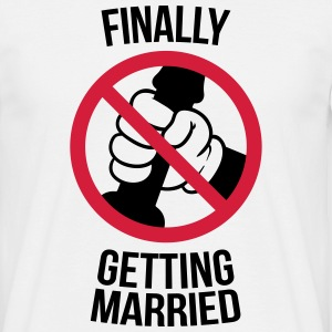 Finally getting married with cock, jerk, wank T-shirts - T-shirt herr