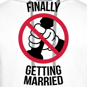 Finally getting married with cock, jerk, wank Sweat-shirts - Sweat-shirt à capuche Premium pour hommes