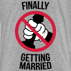 Finally getting married with cock, jerk, wank 3c Tee shirts - T-shirt Premium Ado