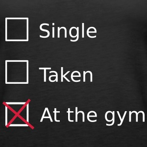 Single Taken At the gym Top - Canotta premium da donna