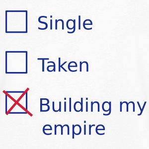 Single Taken Building my empire Koszulki - Koszulka męska Canvas z dekoltem w serek