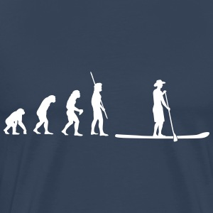 Evolutie Stand up Paddling T-shirts - Mannen Premium T-shirt
