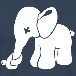 Elephant with nose Zuer T-Shirts - Men's Premium T-Shirt