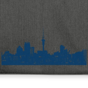 Auckland New Zealand Neuseeland Skyline City - Schultertasche aus Recycling-Material
