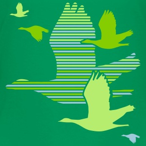 Flight of the Wild Geese Shirts - Kids' Premium T-Shirt