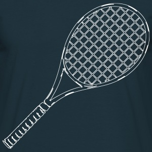 Tennis rackets outline - Men's T-Shirt