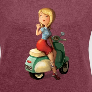 Scooter Girl T-Shirts - Women's T-shirt with rolled up sleeves