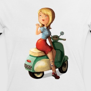 Scooter Girl T-Shirts - Women's Ringer T-Shirt