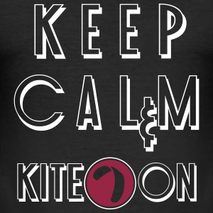 keep calm kite on vec_3 nl T-shirts - slim fit T-shirt