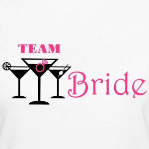 team bride cocktails T-shirts - Vrouwen Bio-T-shirt