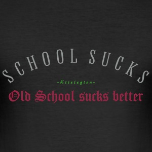school_sucks_x_vec_3 nl T-shirts - slim fit T-shirt