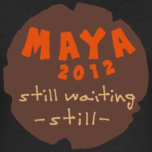 maya_still_waiting_vec_3 de T-Shirts - Männer Slim Fit T-Shirt