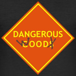 dangerous_wood_vec_3 de T-Shirts - Männer Slim Fit T-Shirt