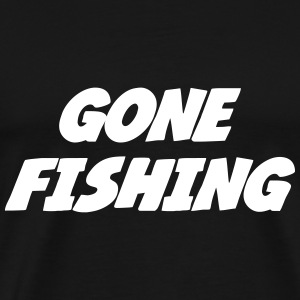 Gone Fishing  T-skjorter - Premium T-skjorte for menn