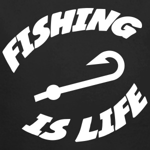 Fishing is life ! Sweats - Body bébé bio manches longues