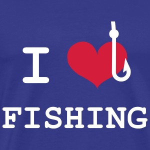 I Love Fishing  T-skjorter - Premium T-skjorte for menn