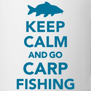 Keep calm and carp fishing Flaschen & Tassen - Tasse