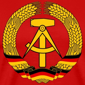 East Germany Crest Flag Wreath GDR DDR Emblem T-shirts - Herre premium T-shirt