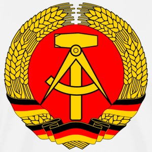 East Germany Crest Flag Wreath GDR DDR Emblem T-shirts - Premium-T-shirt herr