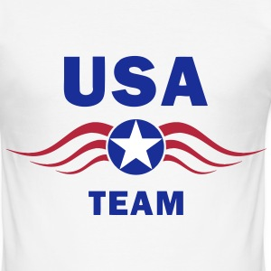 usa fly team T-Shirts - Men's Slim Fit T-Shirt