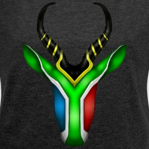 South African Springbok 2 T-Shirts - Women's T-shirt with rolled up sleeves