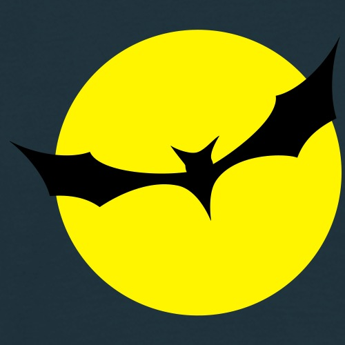 Fledermaus Mond gelb