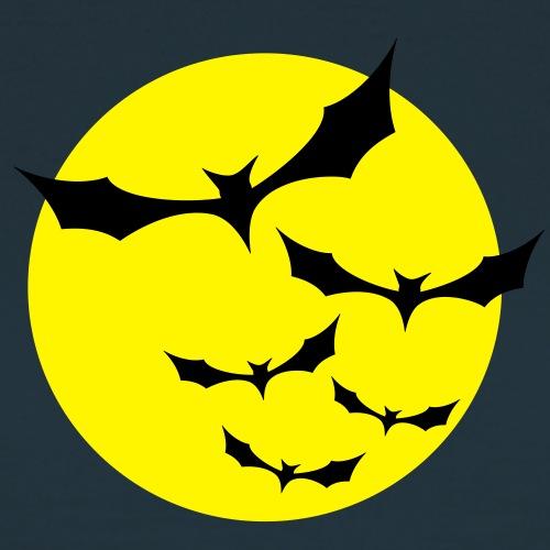 Fledermäuse Mond gelb
