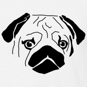sad pug - Mannen T-shirt