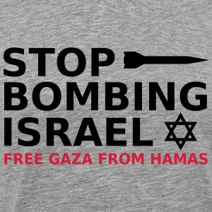 stop bombing israel T-Shirts - Men's Premium T-Shirt