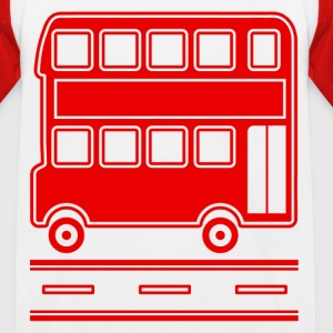 London Bus - Red Double Decker T-shirt  - Kids' Baseball T-Shirt