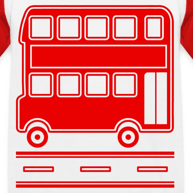 Red Bus T-Shirt including Bus Back Print