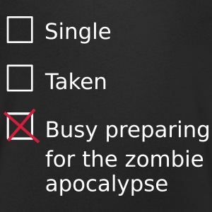 Single Taken Busy preparing for a zombie apocalyps T-Shirts - Men's V-Neck T-Shirt