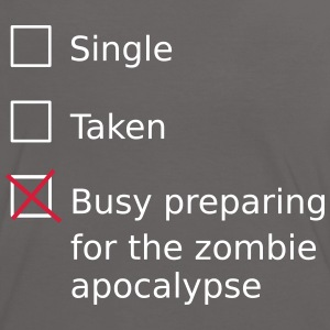 Single Taken Busy preparing for a zombie apocalyps T-shirts - Vrouwen contrastshirt