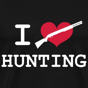 I Love Hunting T-Shirts - Men's Premium T-Shirt