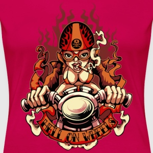 Cafe Racer Pin-Up Girl  T-Shirts - Frauen Premium T-Shirt