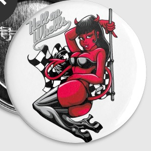 Devil Pin-Up Girl - Hell on Wheels Buttons & Anstecker - Buttons mittel 32 mm
