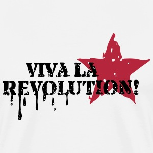 Viva la Revolution, Star, Grunge, Anarchy, Punk,   T-shirts - Herre premium T-shirt