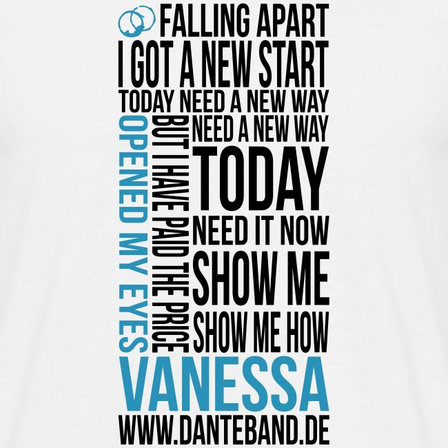 DANTE T-Shirt men white standard - Vanessa