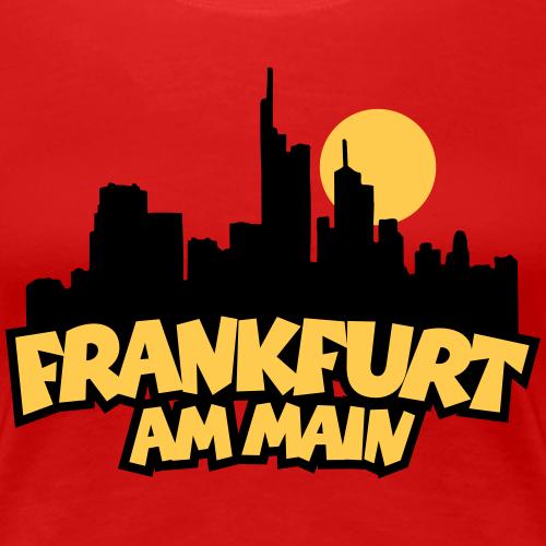 Frankfurt am Main Skyline mit Vollmond