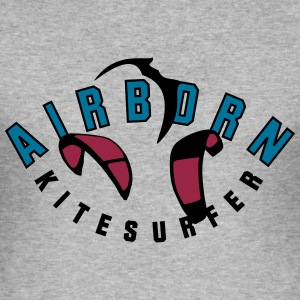 airborn_vec_3 en - Men's Slim Fit T-Shirt