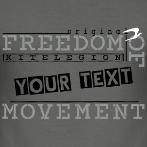 freedom_of_mov_vec_3 nl T-shirts - slim fit T-shirt