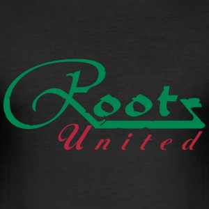 rootz_united_vec_2 de T-Shirts - Männer Slim Fit T-Shirt