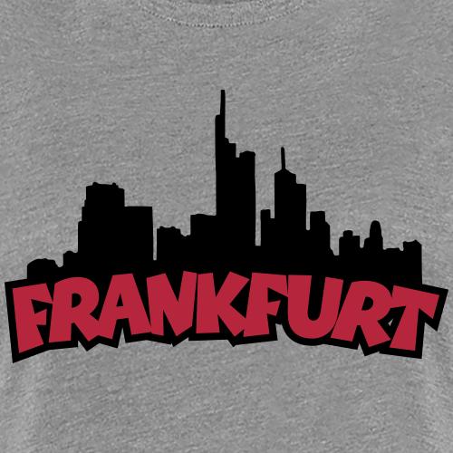 Frankfurt Skyline (Schwarz/Rot)