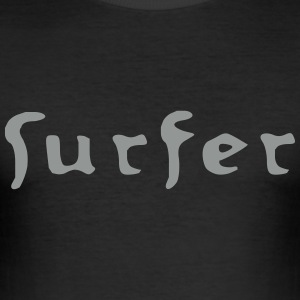 surfer_old_vec_1 en - Men's Slim Fit T-Shirt