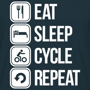 eat sleep cycle repeat T-skjorter - T-skjorte for menn