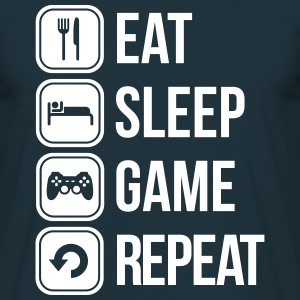 eat sleep game repeat T-shirts - Herre-T-shirt