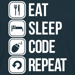 eat sleep code T-shirts - Herre-T-shirt