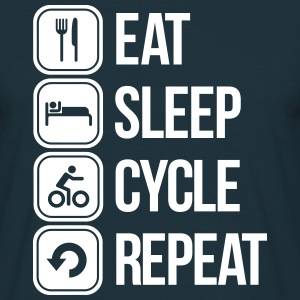 eat sleep cycle repeat T-shirts - Herre-T-shirt